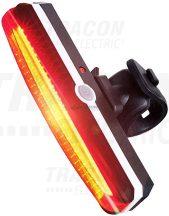 Tracon BLCH1,5W Akkumulátoros LED bicikli lámpa, hátsó, piros
