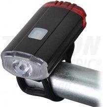 Tracon BLCR2W LED biciklilámpa, első-hátsó világítással