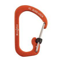 CSLA2-19-R6 SlideLock® reteszelhető alumínium karabiner #2 - Narancsszín. Teherbírás: 4,5 kg.