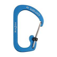 CSLA3-03-R6 SlideLock® reteszelhető alumínium karabiner #3 - Kék. Teherbírás: 11 kg.