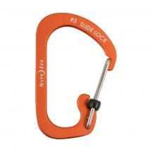 CSLA3-19-R6 SlideLock® reteszelhető alumínium karabiner #3 - Narancsszín. Teherbírás: 11 kg.