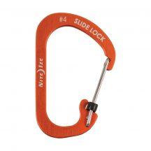 CSLA4-19-R6 SlideLock® reteszelhető alumínium karabiner #4 - Narancsszín. Teherbírás: 34 kg.