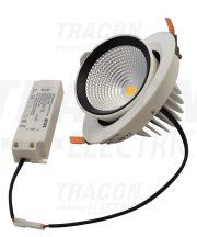 Tracon DLCOBA35WW Beépíthető álmennyezeti LED lámpatest, forgatható