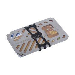 """FMT2-11-R7 Financial Tool V.2 """"pénztárca multiszerszám"""", ezüst"""