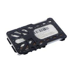 """FMTR-01-R7 RFID blokkolós """"pénztárca multiszerszám"""", fekete"""