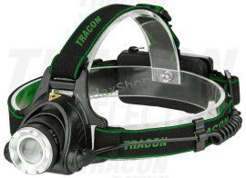 Tracon HL500B Fejlámpa, akkumulátorral, állítható fókusszal
