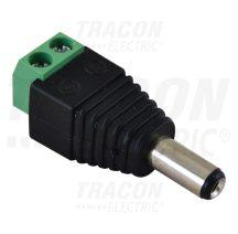 Tracon LSZJM55 Jack/csavaros csatlakozó dugó LED szerelésekhez