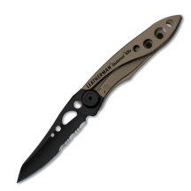 LTG832615 LTG832615 Leatherman Skeletool KBx kés, Coyote-barna