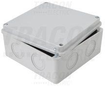 Tracon MED15157 Elektronikai doboz, világos szürke, teli fedéllel