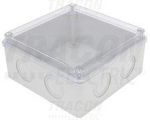 Tracon MED15157T Elektronikai doboz, világos szürke, átlátszó fedéllel