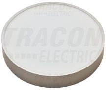 Tracon MFDS8W Műanyag búrás falon kívüli LED lámpatest ezüst peremmel
