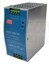 Tracon NDR-240-24 DIN sínre szerelhető tápegységszabályozható DC kimenettel