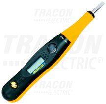 Tracon PAN2000 Feszültség teszter LCD kijelzővel
