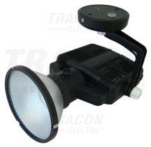 Tracon R-FHK-70-FEK Fémhalogén fényvető működtető egységgel, szimm.,kerek,fekete