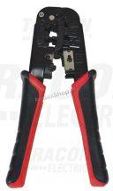 Tracon RJ86 Vágó- ,csupaszító- és présszerszám RJ.. csatlakozókhoz