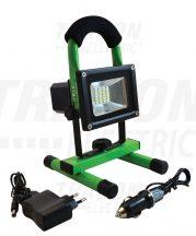 Tracon RSMDAE10W Hordozható akkumulátoros LED fényvető vészjelzővel+USB töltő