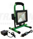 Tracon RSMDAE20W Hordozható akkumulátoros LED fényvető vészjelző funkcióval