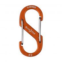 SBA2-19-R6 S-Biner® Alumínium S (dupla) Karabiner #2 - Narancsszín