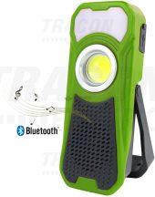Tracon STLBT10W Akkumulátoros LED kézi lámpa Bluetooth hangszóróval
