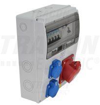 Tracon TDB10-11MV Csatlakozó doboz védelemmel, vezetékezett, készre szerelt