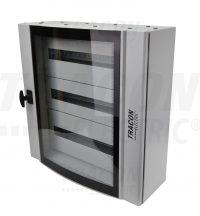 Tracon TGE606020 Ívelt biztonsági üvegajtós fémelosztószekrény