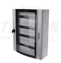 Tracon TGE607520 Ívelt biztonsági üvegajtós fémelosztószekrény