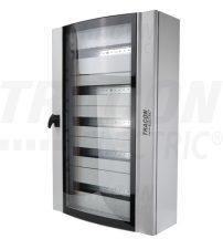 Tracon TGE609020 Ívelt biztonsági üvegajtós fémelosztószekrény