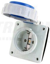 Tracon TICS-105S67 Beépíthető csatlakozóaljzat, oldalsó védőérintkezővel, kerek