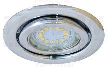 Tracon TLC-6C Beépíthető lámpatest spot fényforrásokhoz, króm