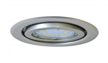 Tracon TLC-6MC Beépíthető lámpatest spot fényforrásokhoz, matt króm