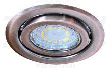 Tracon TLC-6MR Beépíthető lámpatest spot fényforrásokhoz, matt réz