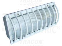 Tracon TLVS-04 Oldalfali járdavilágító lámpatest, domború ráccsal, fehér