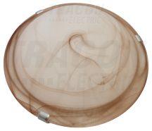 Tracon UFO-1-B Üveg mennyezeti UFO lámpatest, bézs