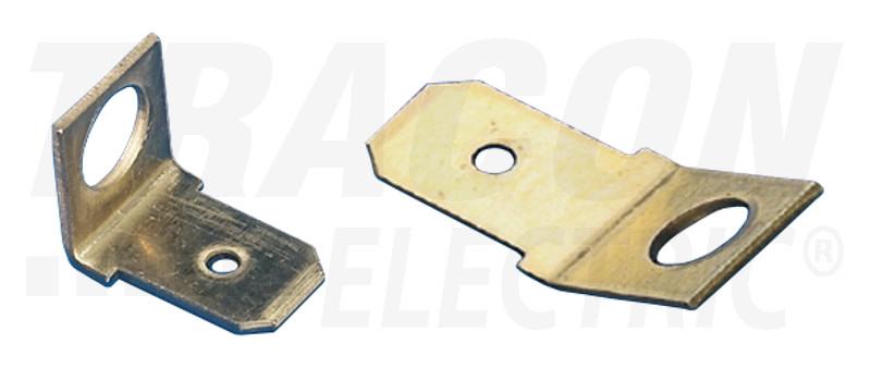 CSA-45-4 Csavaros rögzítésű szigeteletlen csatlakozó csap, sárgaréz