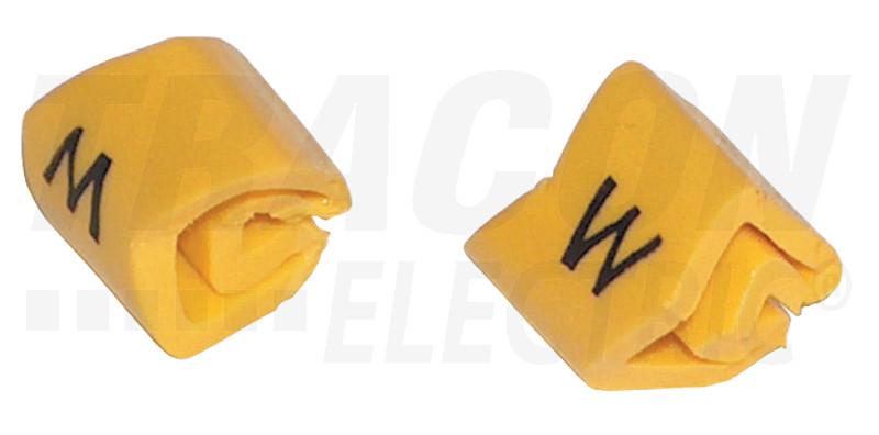 J4W Vezetékjelölő (W betű)vezetékre ráhúzható