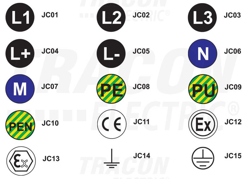 JC07 Jelölőcimke (öntapadós, M)30 db/A5