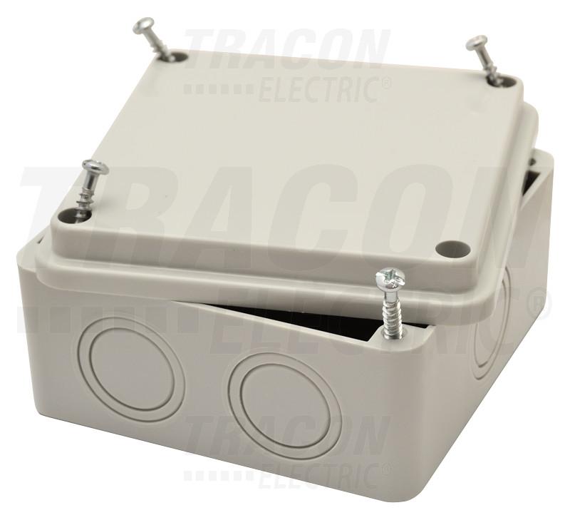 MED10105 Elektronikai doboz, világos szürke, teli fedéllel