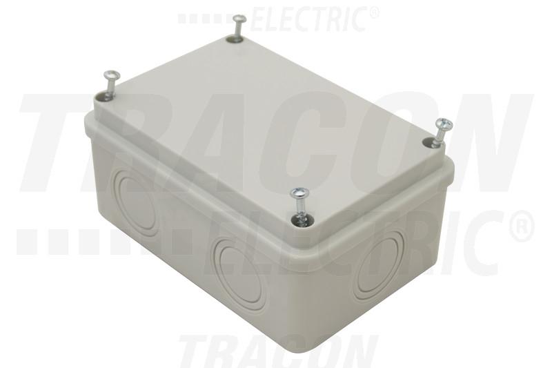 MED8125 Elektronikai doboz, világos szürke, teli fedéllel