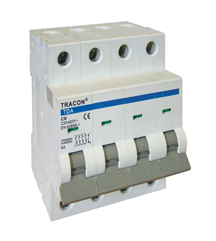 TDA-4C-2 Kismegszakító, 4 pólus, C karakterisztika